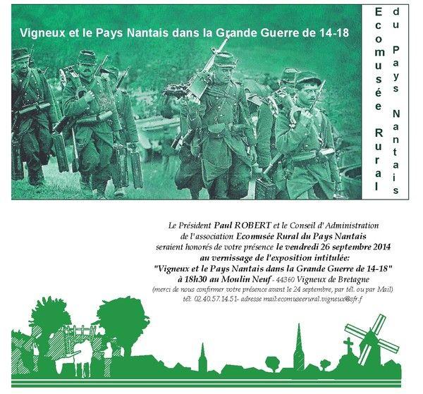 Expo Vigneux et le Pays Nantais dans la Grande Guerre 14-18
