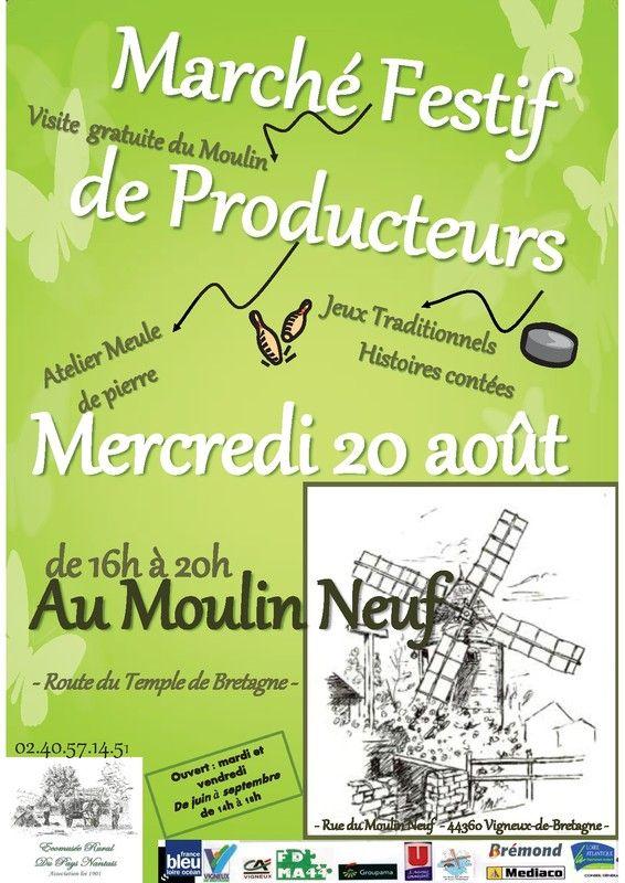 Marché Festif de Producteurs Locaux au Moulin Neuf